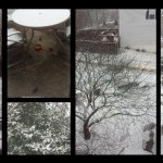 Snowing in Northern Virginia, USA