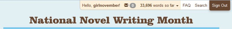 Girlnovember's Current Word Count