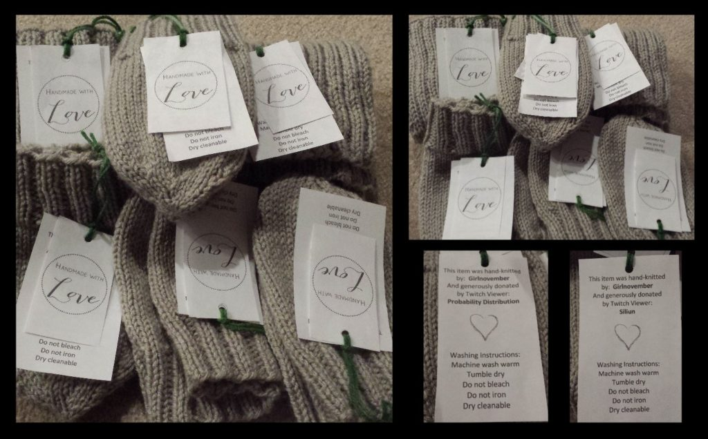 Donations to charity From The Heart Stitchers