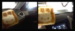 Toast in a Fairfax, VA parking garage.