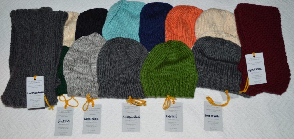12 Hats & 4 Scarves Donated to Loudoun County - GirlnovemberCrafts | girlnovember.com