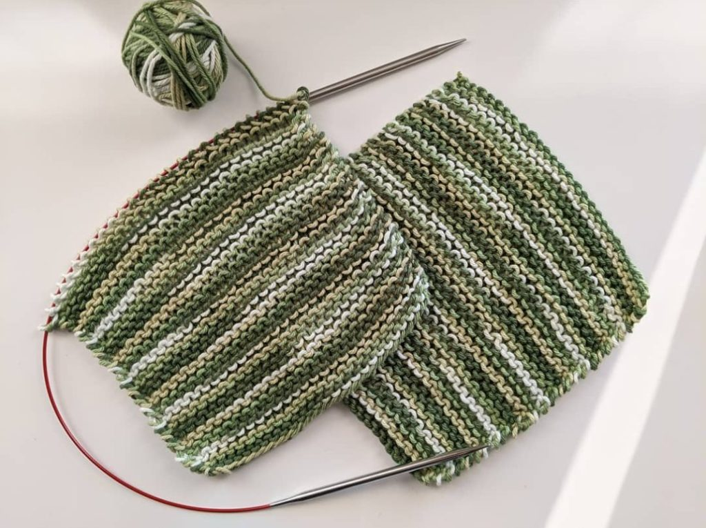 Two MultiGreen Washcloths
