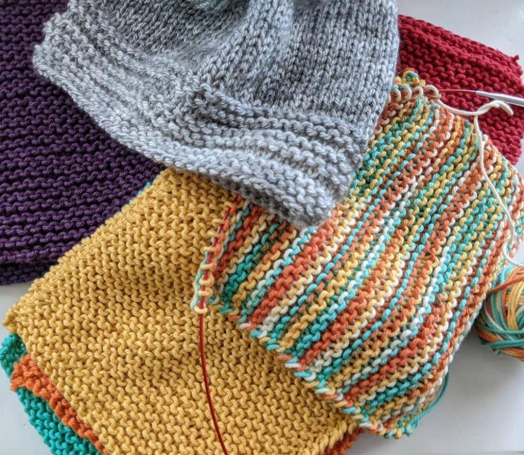 Knit Washcloths & Hat